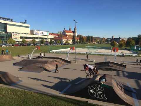 White Brige Skatepark in Vilnius, Lithuania
