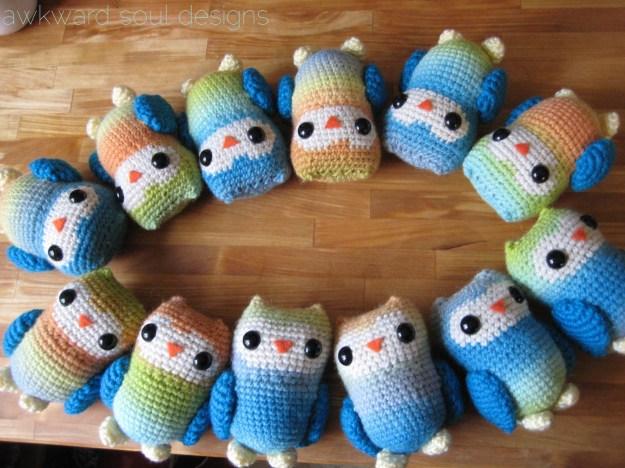 1 dozen amigurumi owls - awkwardsouldesigns (6)