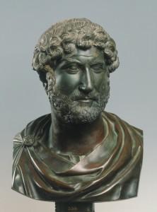 foto1 Forum Hadriani de opgravingen. Buste van Hadrianus