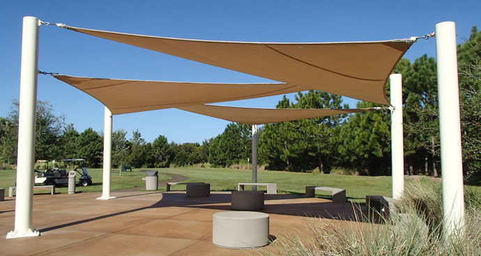 Project Showcase Outdoor Area Shines Under Shade Sails