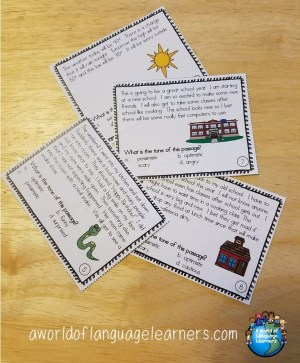 mood setting task cards