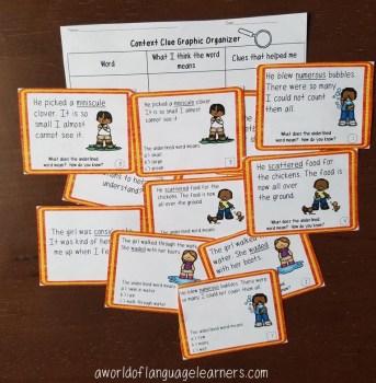 spring context clue task cards