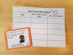 Context clue task card and recording sheet