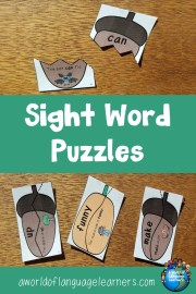 sight word puzzles blog