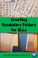 Creating vocabulary folders for Ells