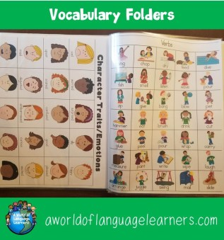 Vocabulary Folders
