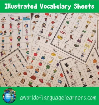Illustrated Vocabulary Sheets
