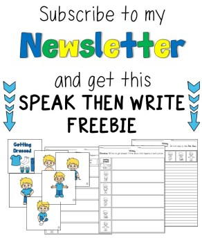 newsletter freebie speak then write