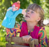 girl with puppet