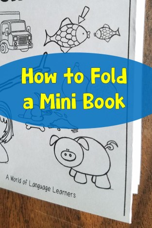 How to fold a mini book