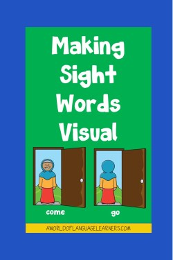 making sight words visual