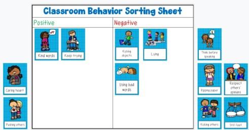classroom behavior sort