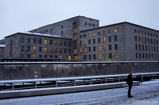 Right in front of Topography of Terror Museum