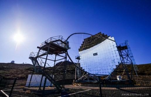 A telescope at the top of La Palma