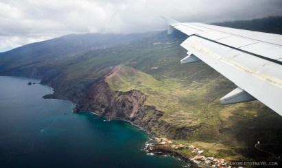 Minutes before landing in La Palma, Canary Islands