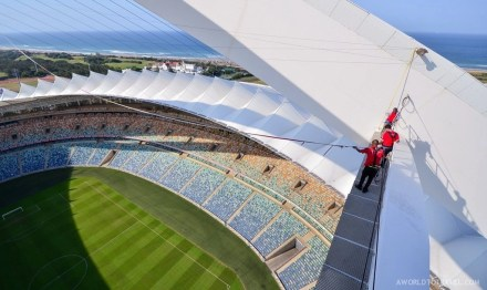 Big Rush Swing Jump Over Moses Mabhida Stadium, Durban, South Africa. #Meetsouthafrica.
