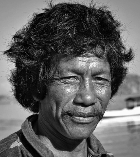 This man was painting his boat under a great light in a Labuan Bajo beach this morning.