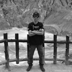 Introducing Bule @ravindra_boelle, a huge fan of Valentino Rossi and bikes (in Tangkuban Perahu)
