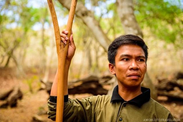 One of Rinca Island's rangers, Komodo National Park, Indonesia