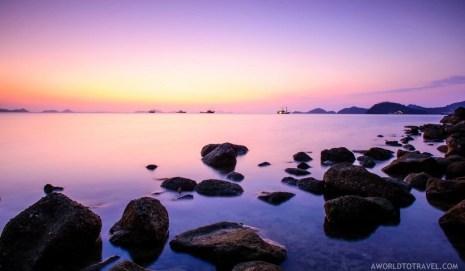 Sunset caption from the beach in front of La Prima hotel, Labuan Bajo, Indonesia