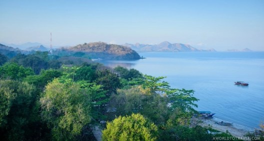 Views from our hotel window at Labuan Bajo, Indonesia