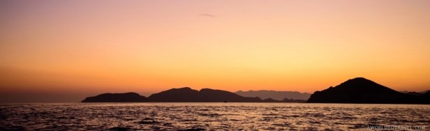 Sunset as we were leaving Komodo National Park, Indonesia