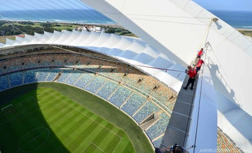 Big Rush - Jumping off Moses Mabida stadium in Durban - South Africa - A World to Travel