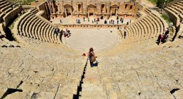 A well preserved amphitheatre at Jerash
