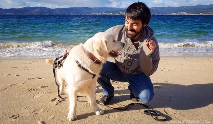 Jose and Rufo at Aguieira beach - Galicia - A World to Travel