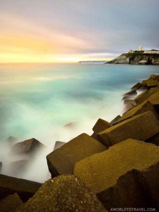 Sunset in Luarca Asturias - A World to Travel