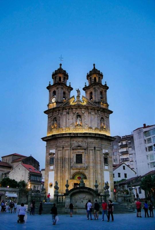 La siempre icónica iglesia de la Peregrina, Pontevedra