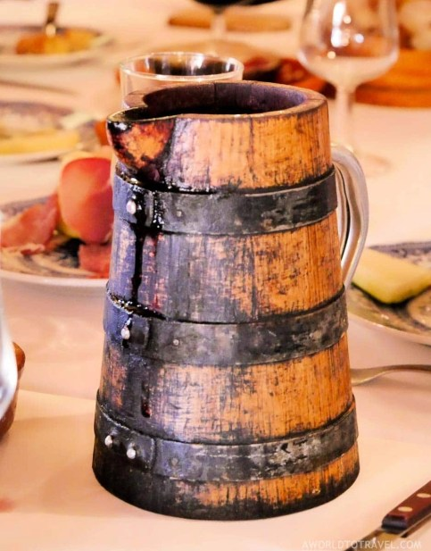 Wood wine jug at Recanto dos Carvalhos - Gralheira - Cinfaes - Montanhas Magicas Road Trip - Portugal - A World to Travel