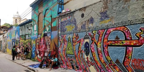 Street Art near Selarón Steps - Rio de Janeiro - Here's How To Road Trip 5 Brazilian Cities In Two Weeks - A World to Travel
