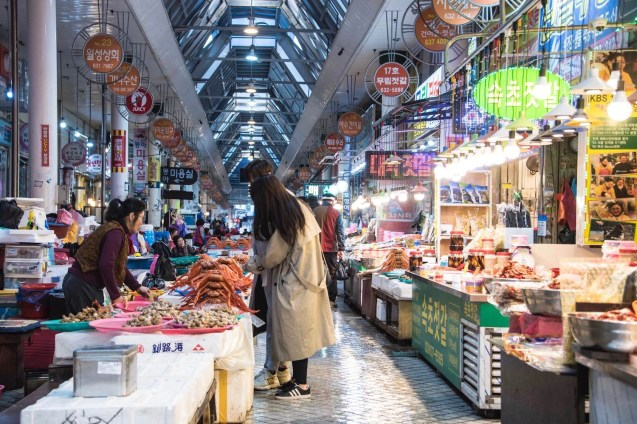 Sokcho Seafood Market 2 - South Korea tourist destinations - A World to Travel