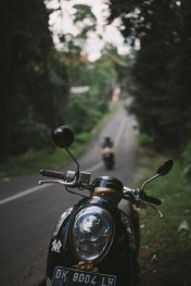 Riding a motorbike - Ubud ideas and plans - A World to Travel