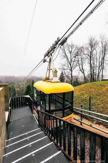 Cable car over the Gauja river - What to do in Sigulda Latvia - A World to Travel (3)