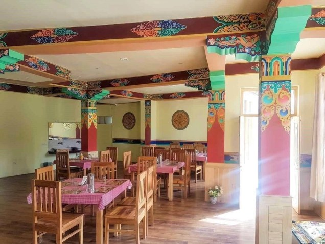 Dining area at Gangba Homestay in Leh - Best restaurants in Leh