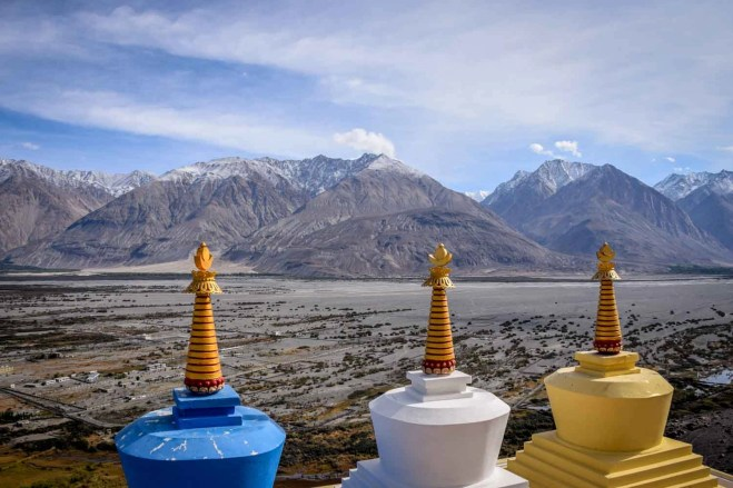 View from top of Diskit Monastery - What to visit in Ladakh