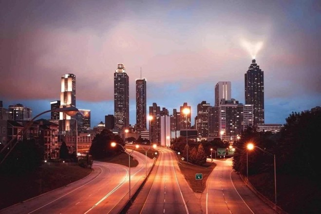 Atlanta at night - GA landmarks