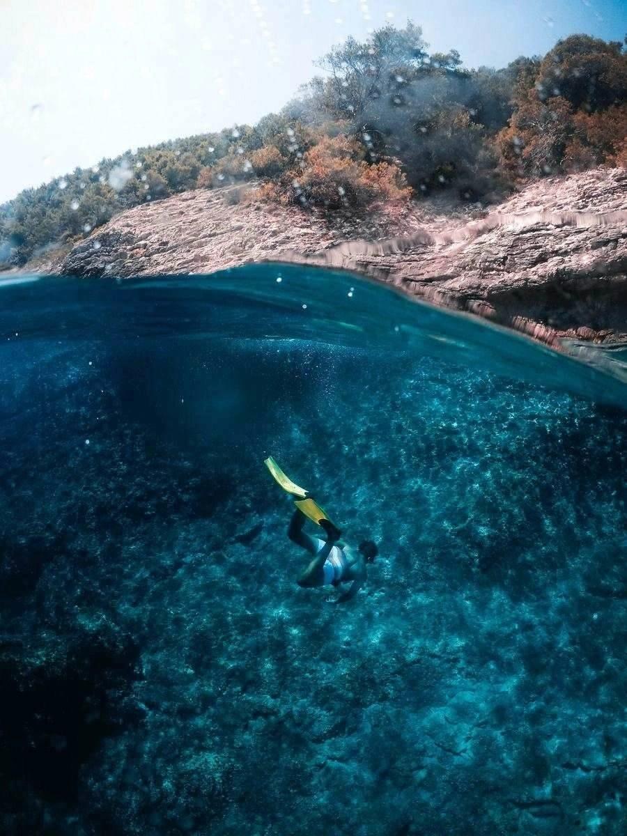 Freediving in Hvar - Croatian islans