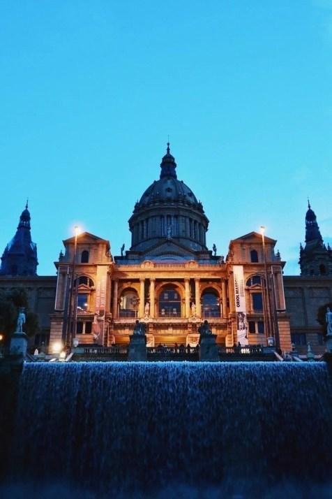 MNAC Barcelona at dusk - 2 days itinerary in Barcelona