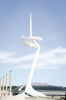 Montjuic Communications Tower in the Olympic Park in Barcelona