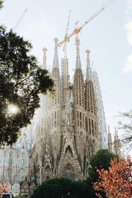 Sagrada Familia construction works - 48 hours in Barca