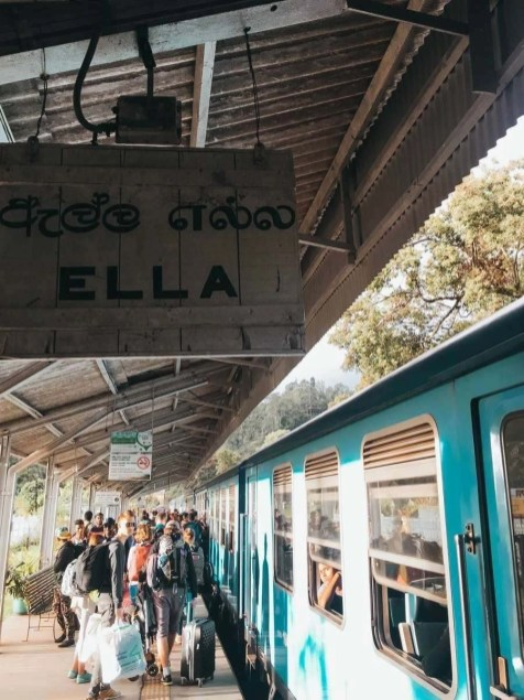 Ella train station sign, Sri Lanka