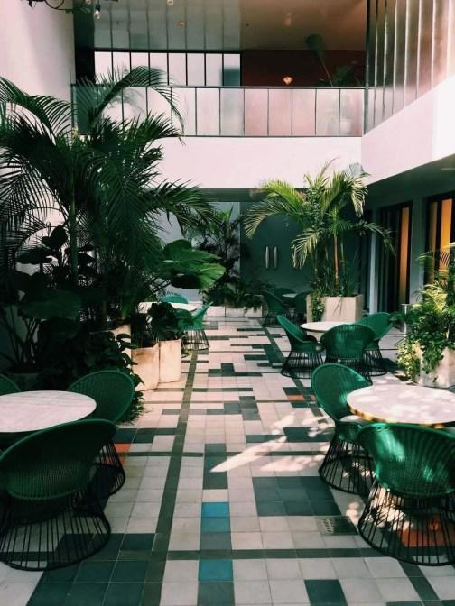 Indoor patio in a Guadalajara building - Mexico