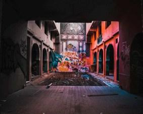 Art installation inside an Athens building