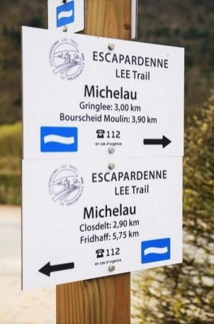 Escapardenne Lee Trail signpost - Best Luxembourg hiking trails