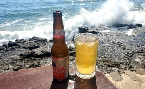A cold bear in Encantos restaurant Rosarito - Tijuana and Baja California attractions