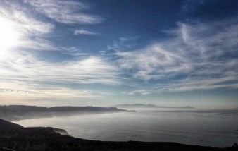 Panoramic view of Baja California as it meets the sea - Mexico