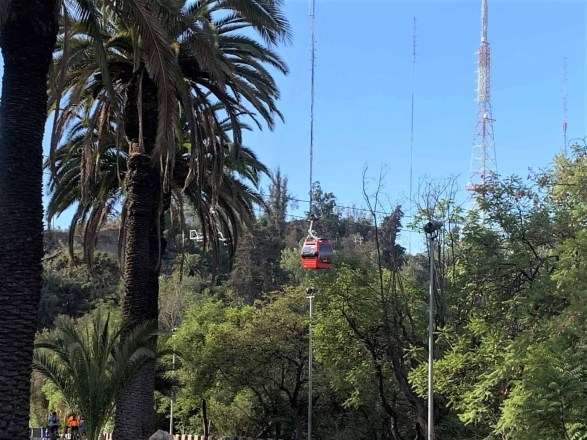 San Cristobal Cable Car - 72 hours in Santiago Chile